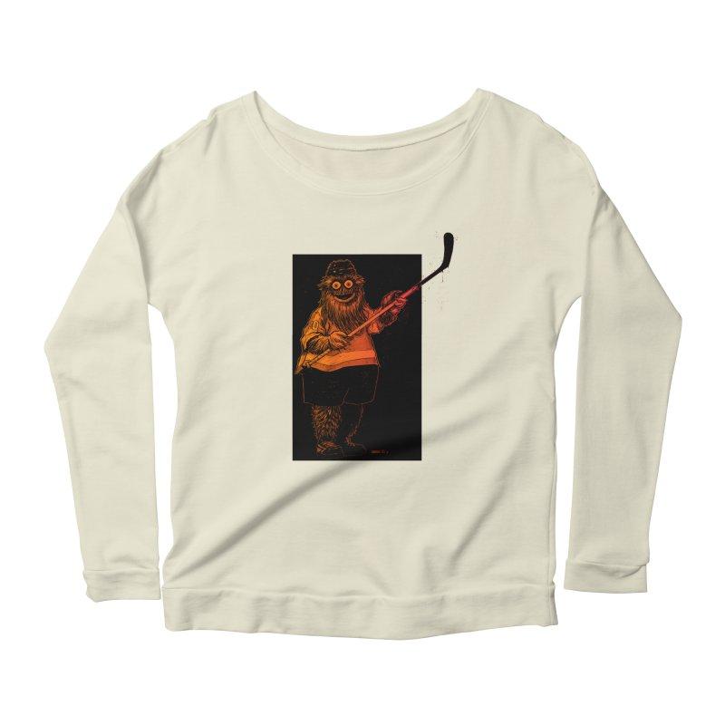 Gritty Women's Scoop Neck Longsleeve T-Shirt by Ambrose H.H.'s Artist Shop