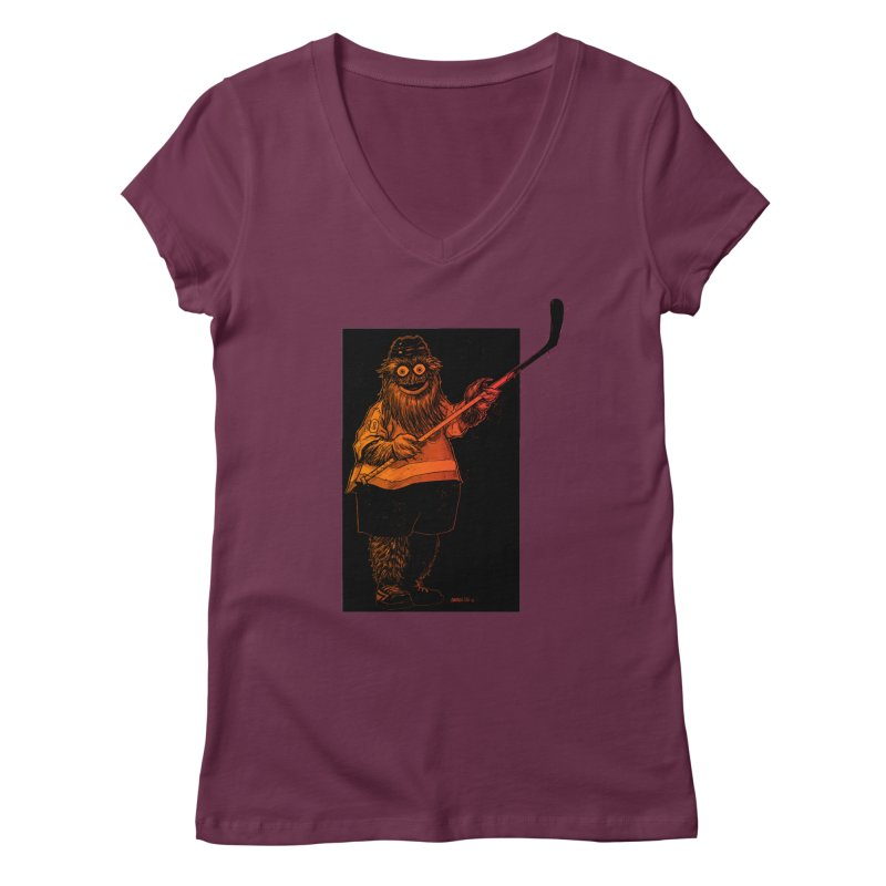 Gritty Women's V-Neck by Ambrose H.H.'s Artist Shop