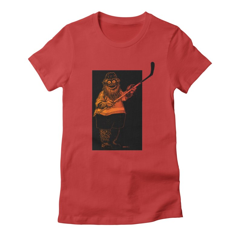 Gritty Women's Fitted T-Shirt by Ambrose H.H.'s Artist Shop