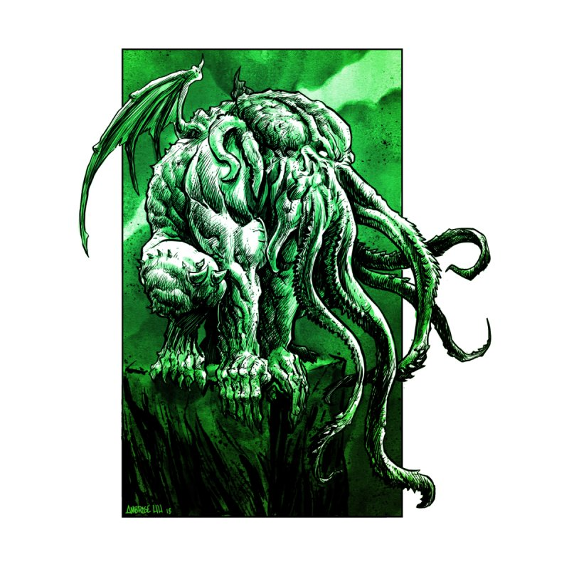 Cthulhu Accessories Sticker by Ambrose H.H.'s Artist Shop