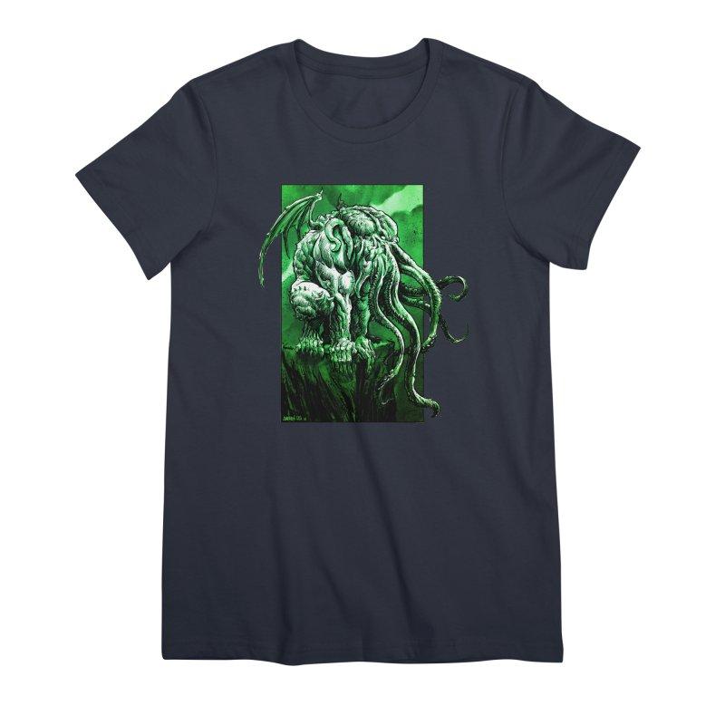 Cthulhu Women's Premium T-Shirt by Ambrose H.H.'s Artist Shop