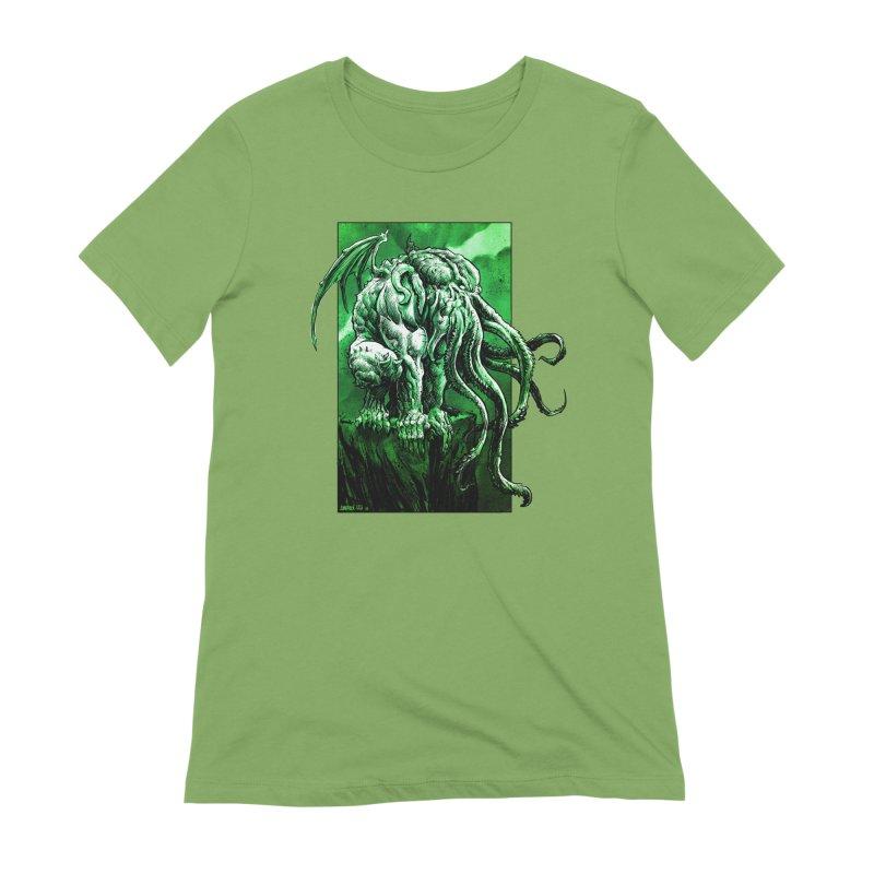 Cthulhu Women's Extra Soft T-Shirt by Ambrose H.H.'s Artist Shop