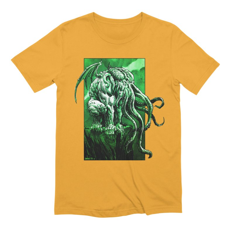 Cthulhu Men's Extra Soft T-Shirt by Ambrose H.H.'s Artist Shop