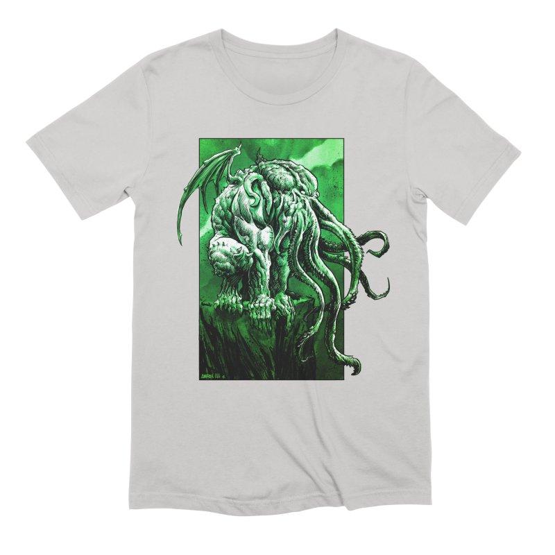 Cthulhu Men's Extra Soft T-Shirt by Ambrose H.H.'s Artist Shop