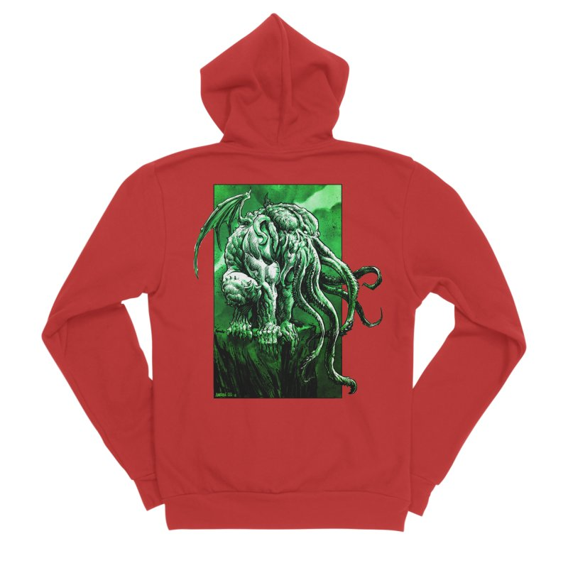 Cthulhu Men's Zip-Up Hoody by Ambrose H.H.'s Artist Shop