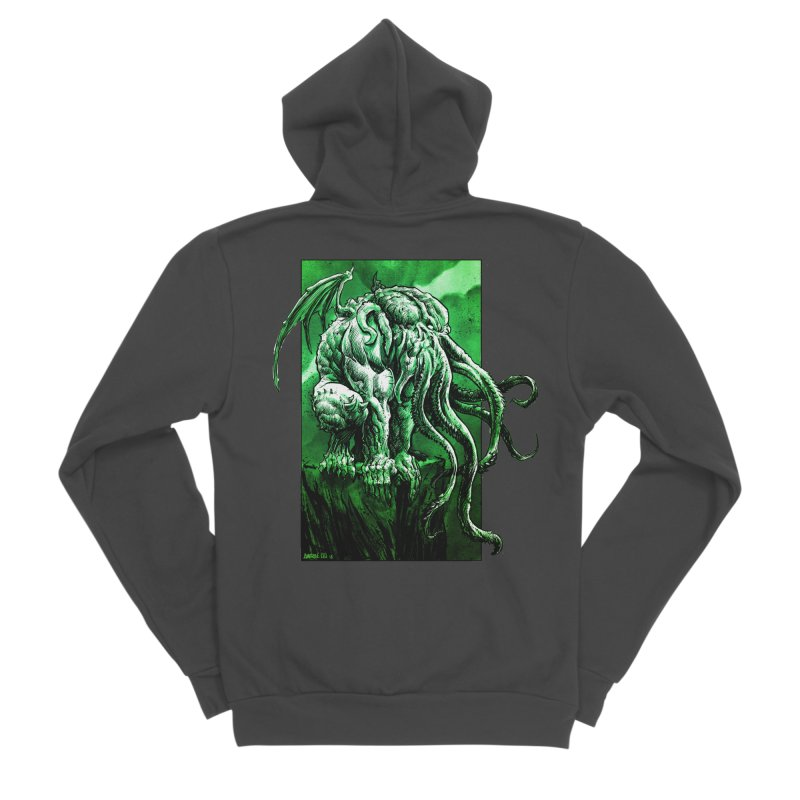 Cthulhu Men's Sponge Fleece Zip-Up Hoody by Ambrose H.H.'s Artist Shop
