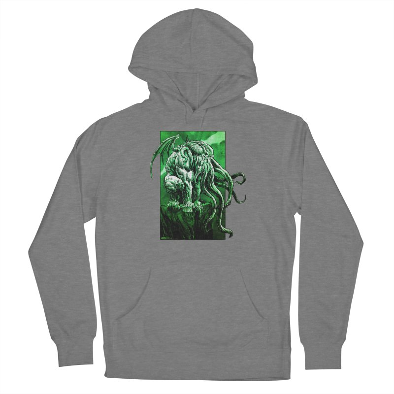 Cthulhu Men's French Terry Pullover Hoody by Ambrose H.H.'s Artist Shop