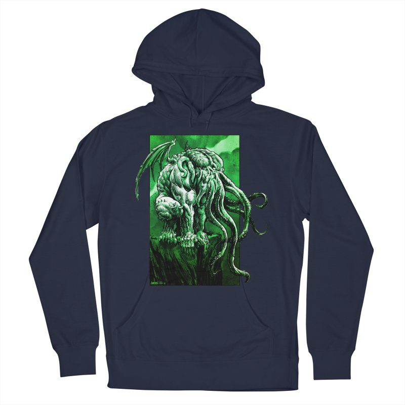 Cthulhu Women's French Terry Pullover Hoody by Ambrose H.H.'s Artist Shop