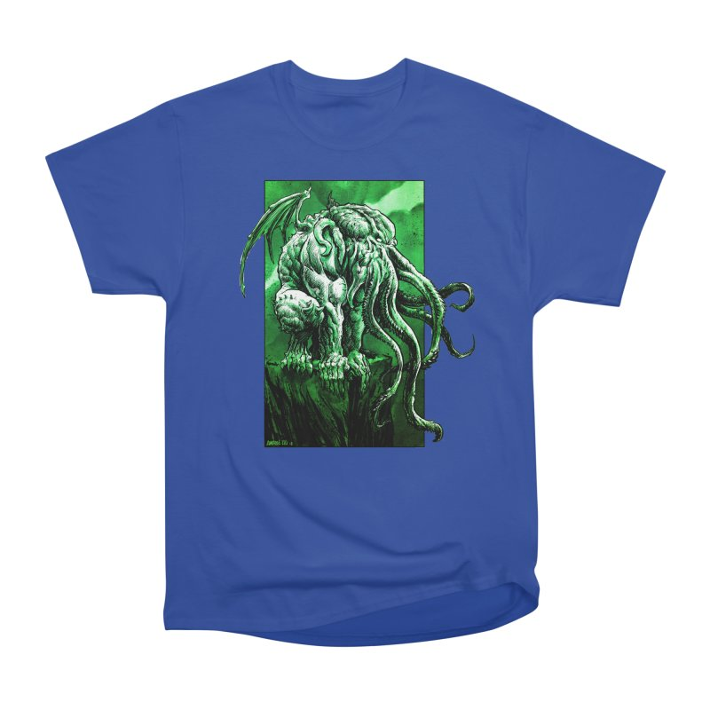 Cthulhu Women's Heavyweight Unisex T-Shirt by Ambrose H.H.'s Artist Shop