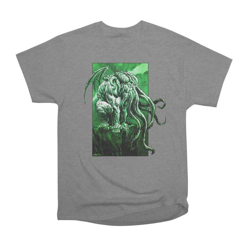 Cthulhu Women's Heavyweight Unisex T-Shirt by Ambrose H.H.'s Artist Shop