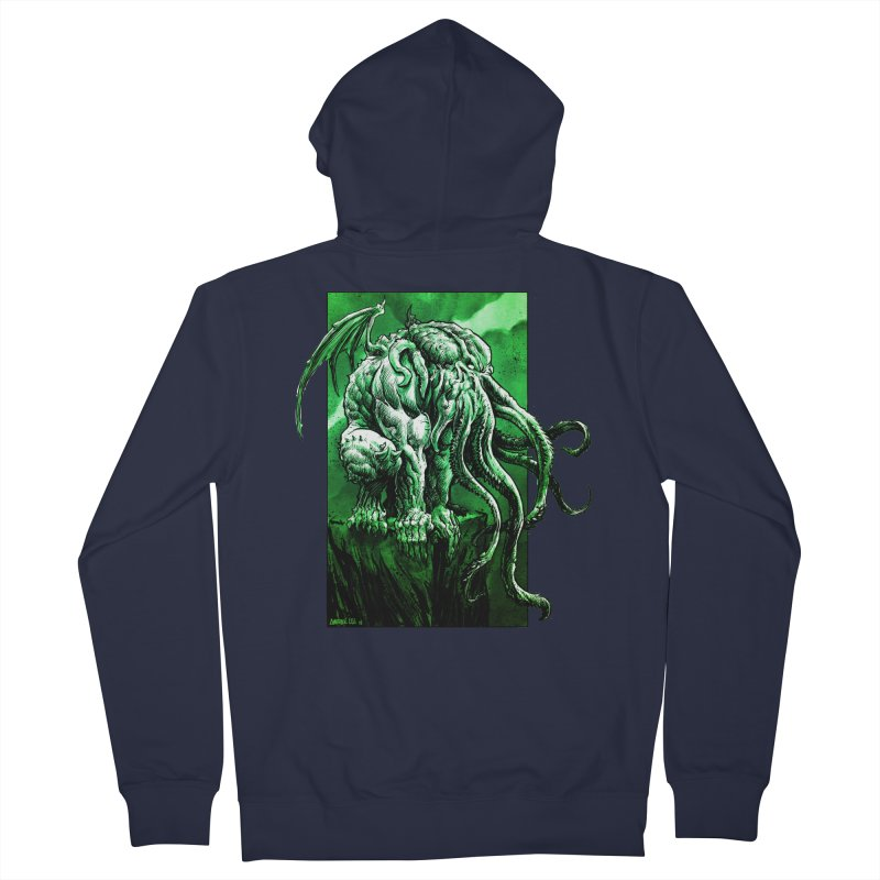 Cthulhu Men's French Terry Zip-Up Hoody by Ambrose H.H.'s Artist Shop