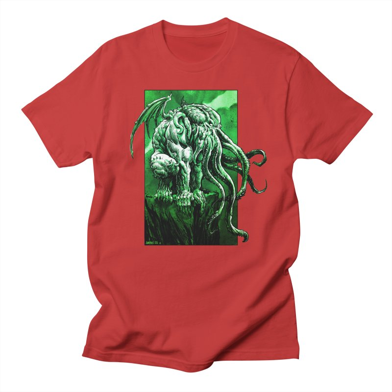 Cthulhu Men's Regular T-Shirt by Ambrose H.H.'s Artist Shop