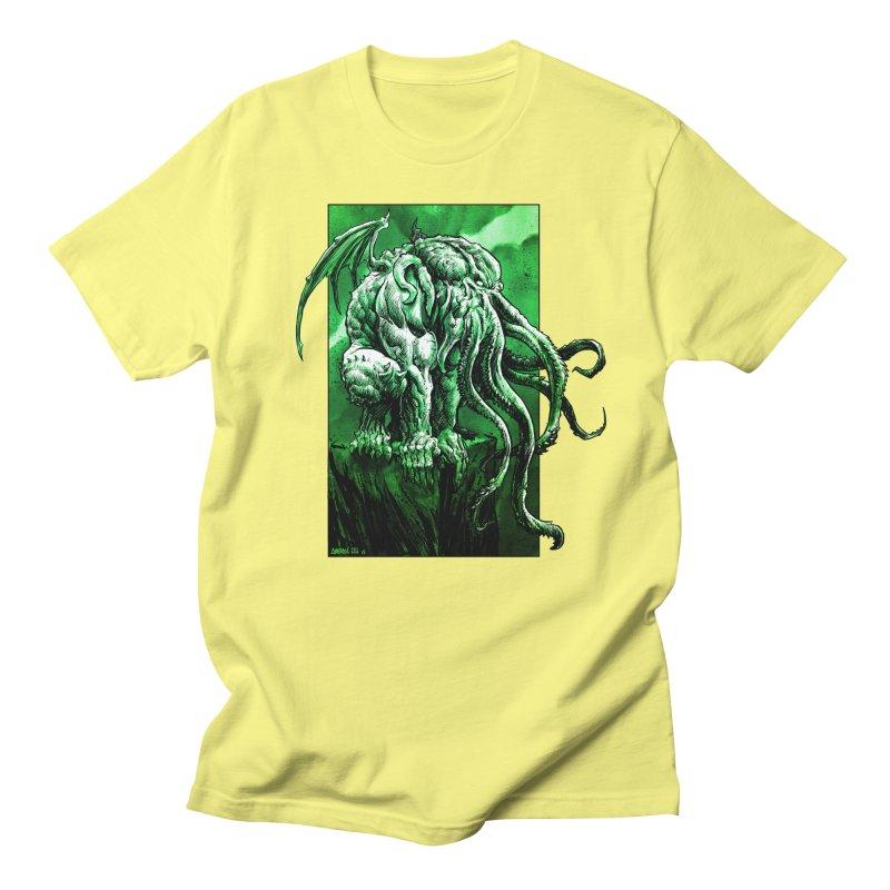 Cthulhu Men's Regular T-Shirt by Ambrose H.H.'s Artist Shop