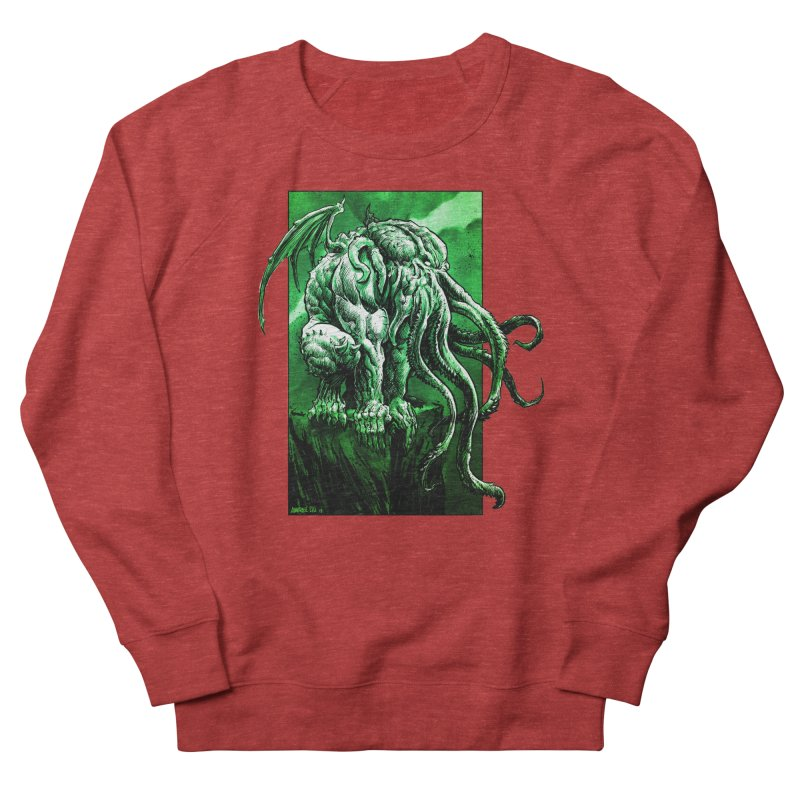Cthulhu Women's French Terry Sweatshirt by Ambrose H.H.'s Artist Shop