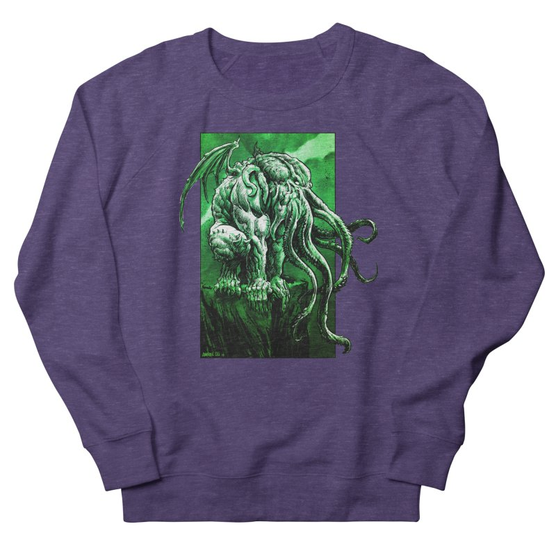 Cthulhu Men's French Terry Sweatshirt by Ambrose H.H.'s Artist Shop
