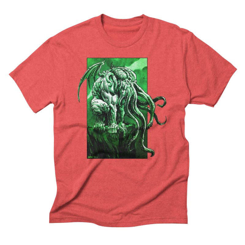 Cthulhu Men's Triblend T-Shirt by Ambrose H.H.'s Artist Shop