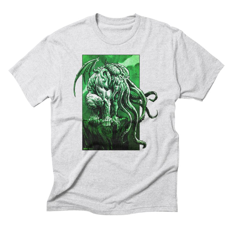 Cthulhu Men's Triblend T-Shirt by Ambrose H.H.'s Artist Shop