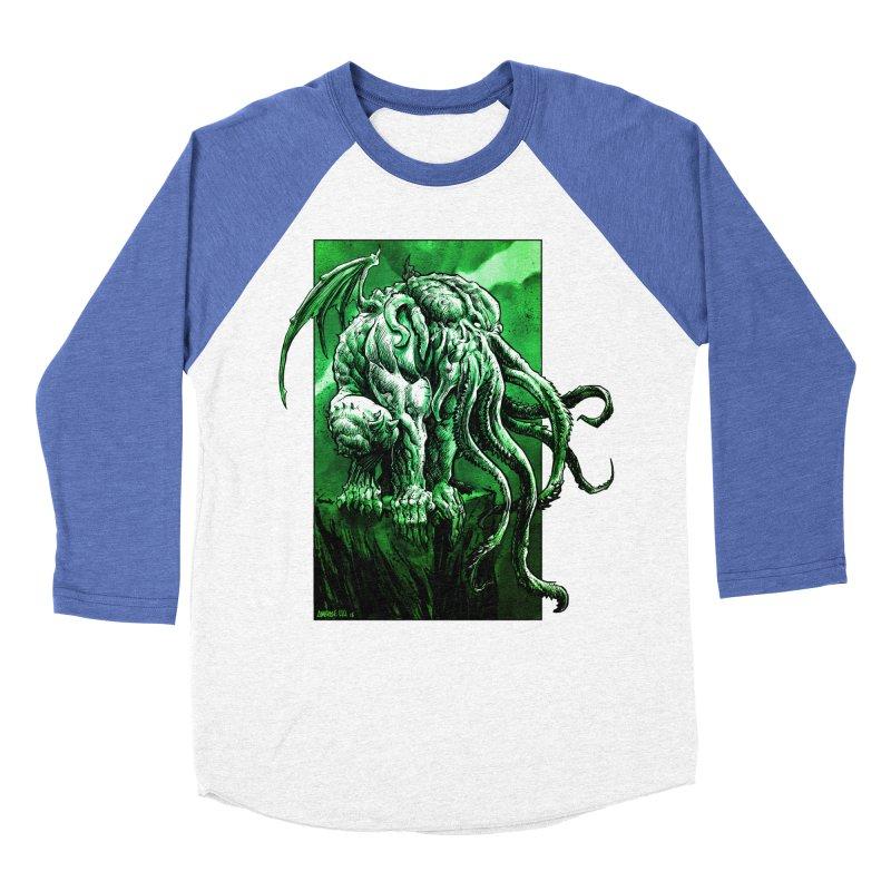 Cthulhu Women's Baseball Triblend Longsleeve T-Shirt by Ambrose H.H.'s Artist Shop