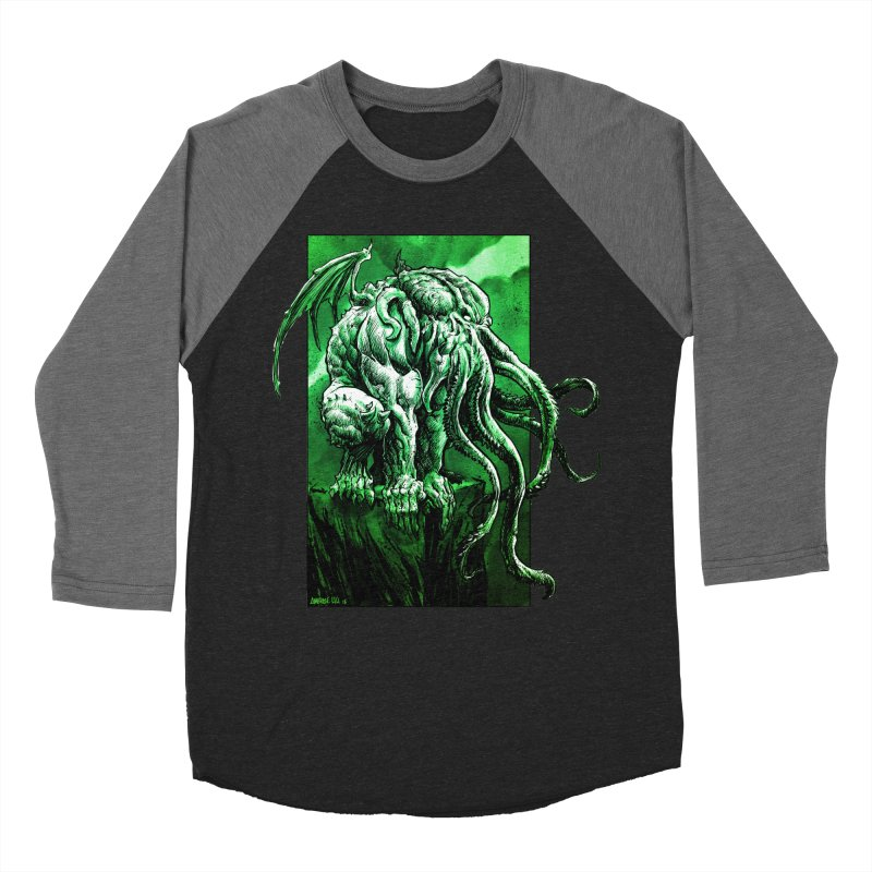 Cthulhu Men's Baseball Triblend Longsleeve T-Shirt by Ambrose H.H.'s Artist Shop
