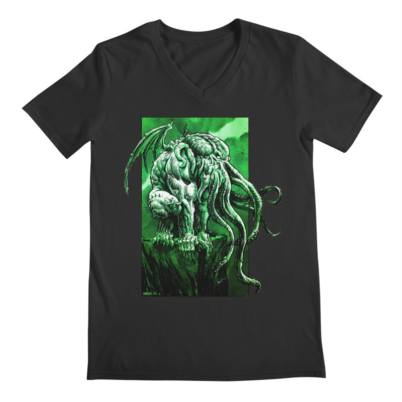Cthulhu Men's V-Neck by Ambrose H.H.'s Artist Shop