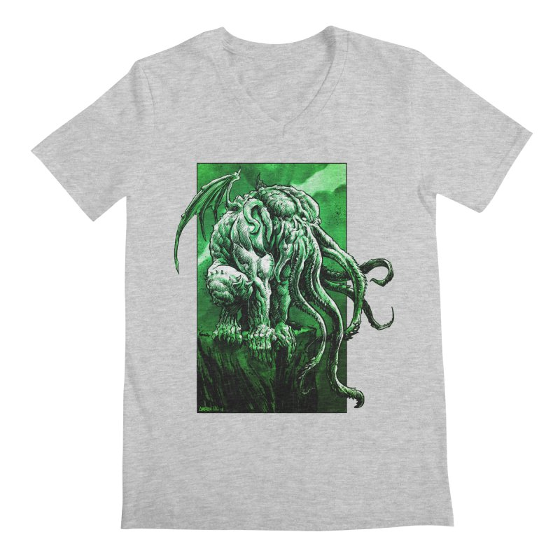 Cthulhu Men's Regular V-Neck by Ambrose H.H.'s Artist Shop