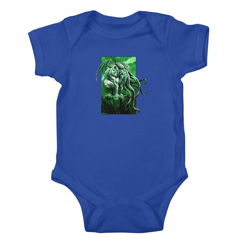 Cthulhu Kids Baby Bodysuit by Ambrose H.H.'s Artist Shop