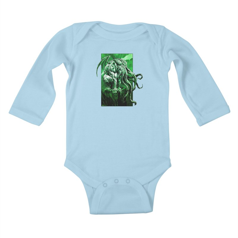 Cthulhu Kids Baby Longsleeve Bodysuit by Ambrose H.H.'s Artist Shop