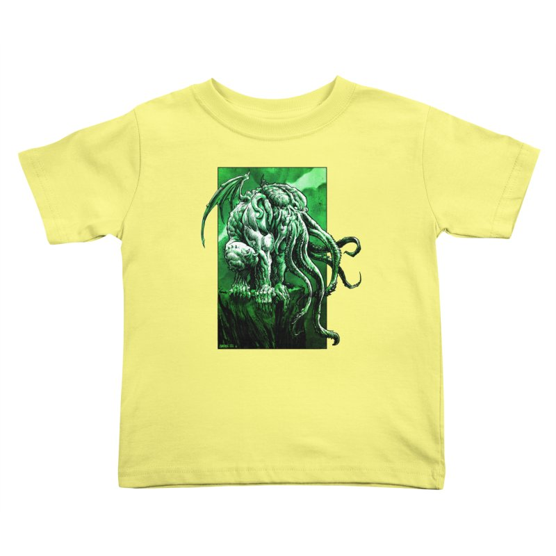 Cthulhu Kids Toddler T-Shirt by Ambrose H.H.'s Artist Shop