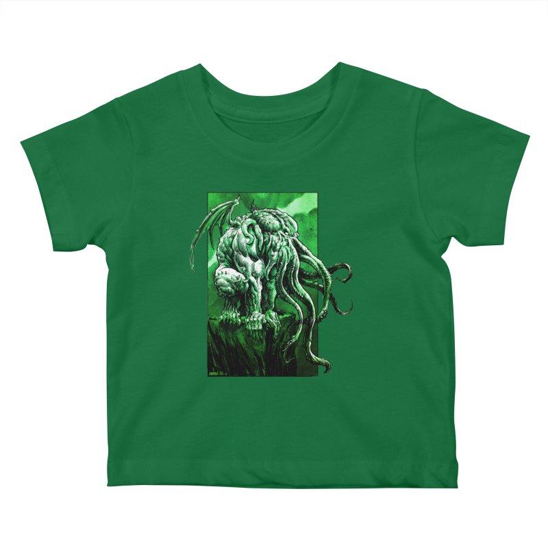 Cthulhu Kids Baby T-Shirt by Ambrose H.H.'s Artist Shop