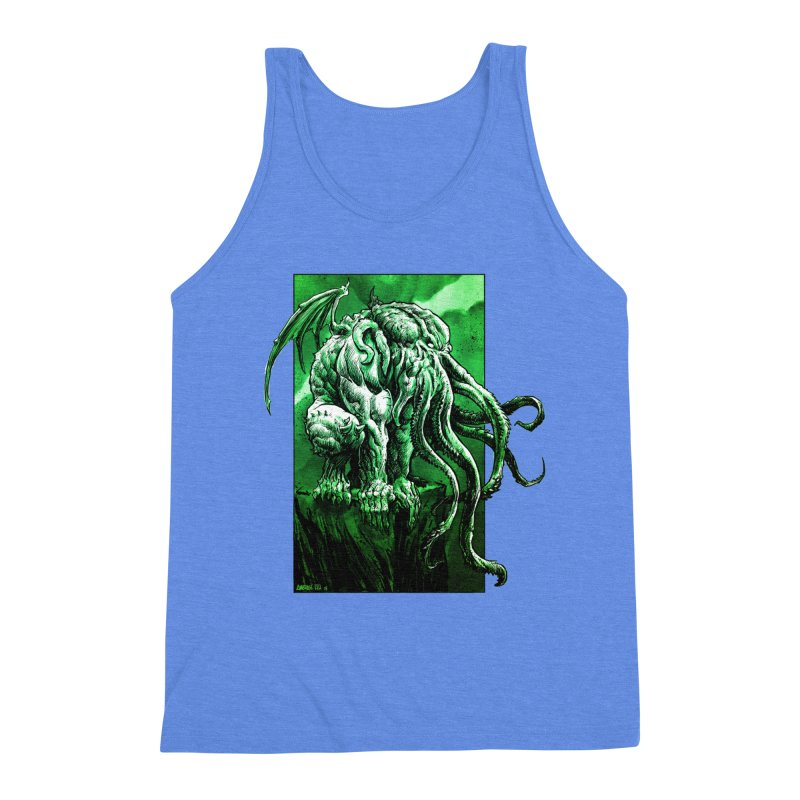 Cthulhu Men's Triblend Tank by Ambrose H.H.'s Artist Shop