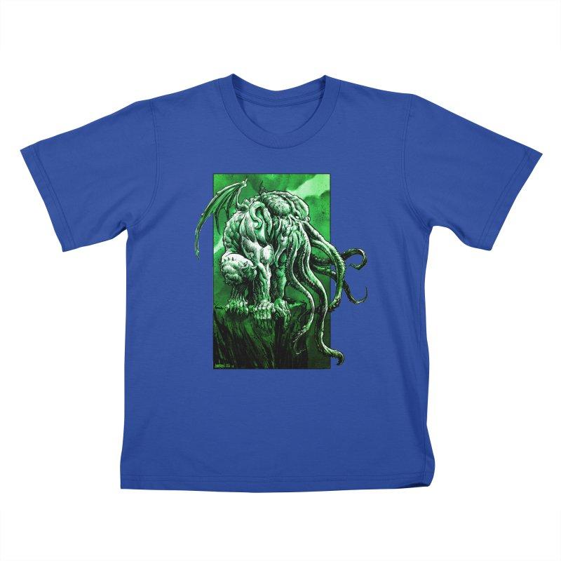Cthulhu Kids T-Shirt by Ambrose H.H.'s Artist Shop