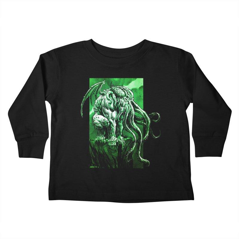 Cthulhu Kids Toddler Longsleeve T-Shirt by Ambrose H.H.'s Artist Shop