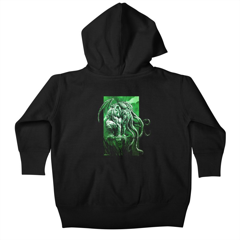 Cthulhu Kids Baby Zip-Up Hoody by Ambrose H.H.'s Artist Shop