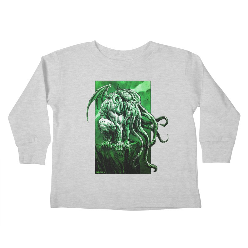 Cthulhu Kids Toddler Longsleeve T-Shirt by Ambrose H.H.'s Artist Shop