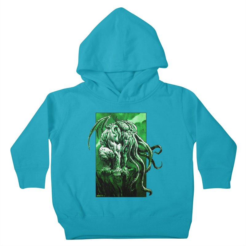 Cthulhu Kids Toddler Pullover Hoody by Ambrose H.H.'s Artist Shop