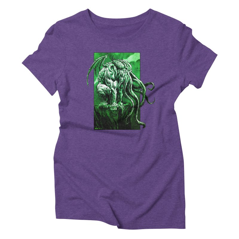Cthulhu Women's Triblend T-Shirt by Ambrose H.H.'s Artist Shop