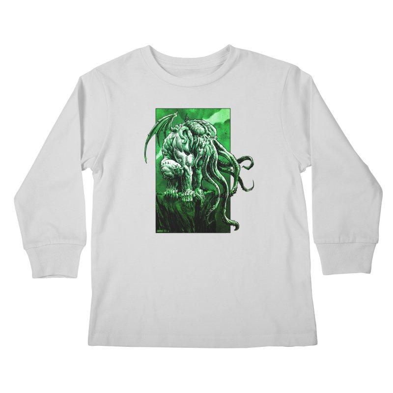 Cthulhu Kids Longsleeve T-Shirt by Ambrose H.H.'s Artist Shop