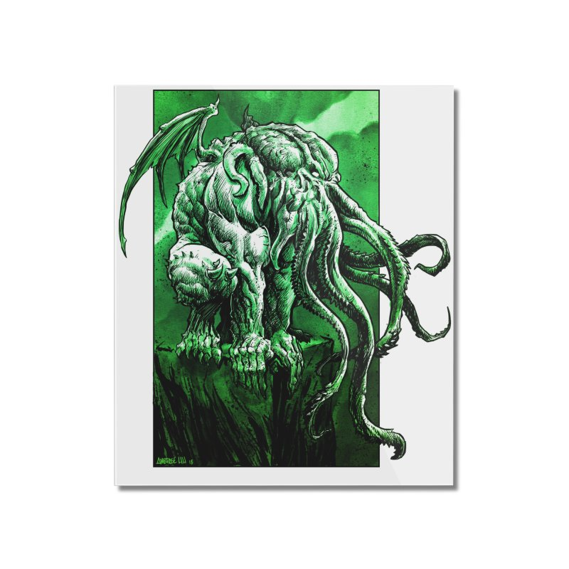 Cthulhu Home Mounted Acrylic Print by Ambrose H.H.'s Artist Shop