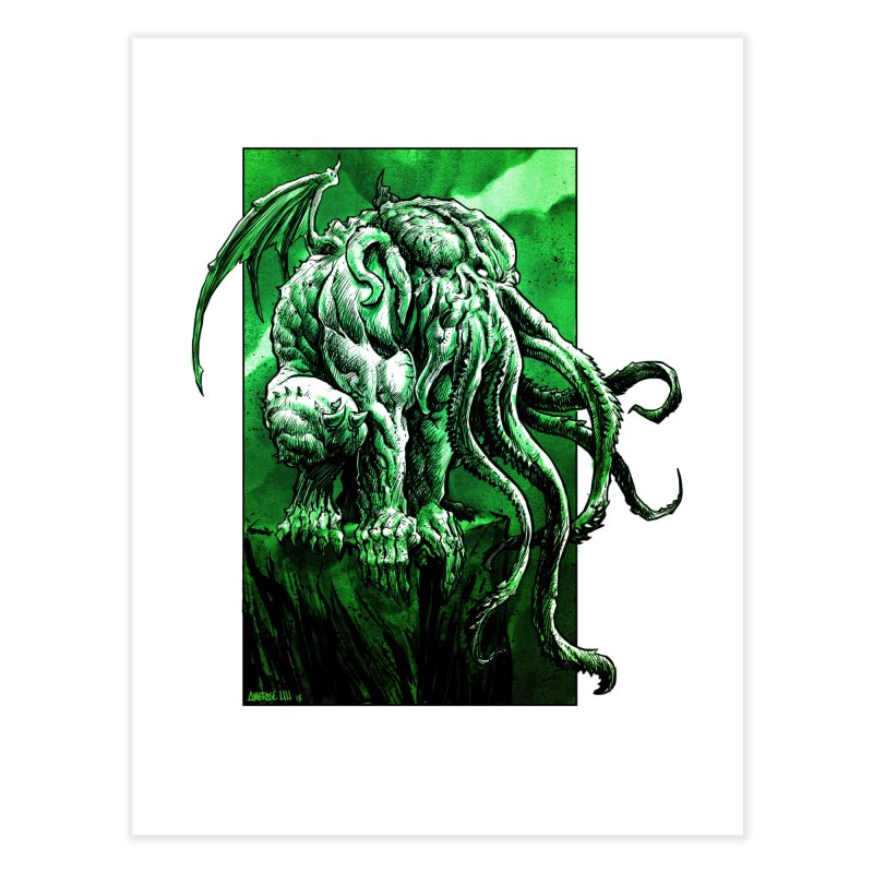 Cthulhu Home Fine Art Print by Ambrose H.H.'s Artist Shop
