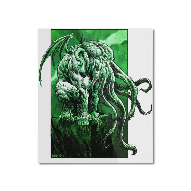 Cthulhu Home Mounted Aluminum Print by Ambrose H.H.'s Artist Shop