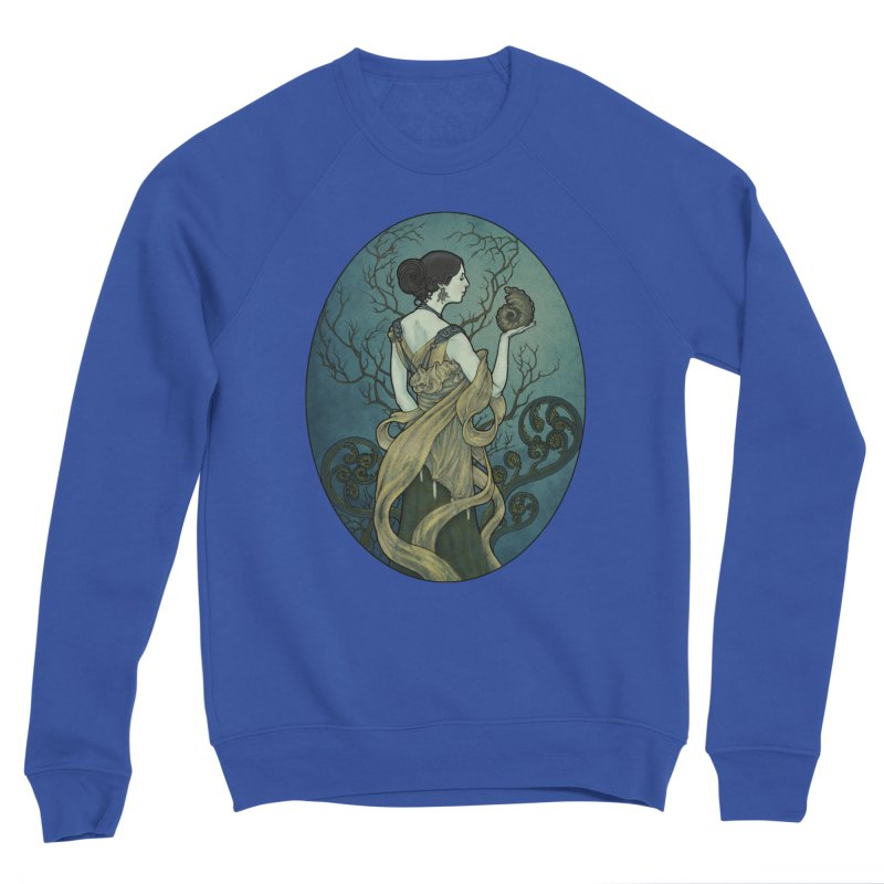 Ammonite Men's Sweatshirt by Ambrose H.H.'s Artist Shop