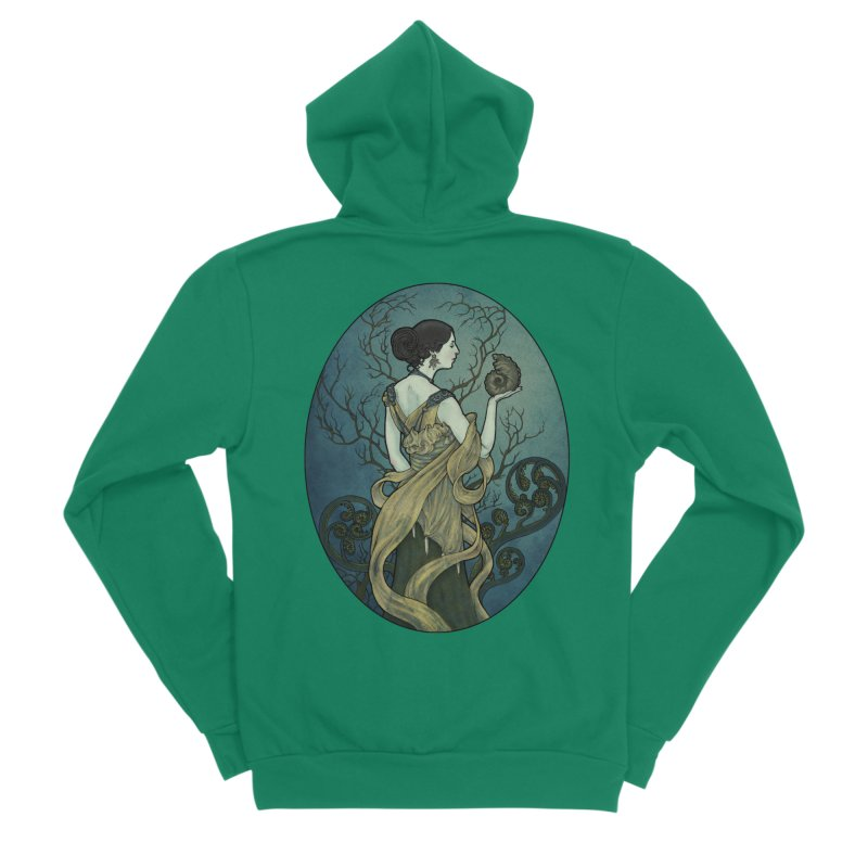 Ammonite Men's Zip-Up Hoody by Ambrose H.H.'s Artist Shop