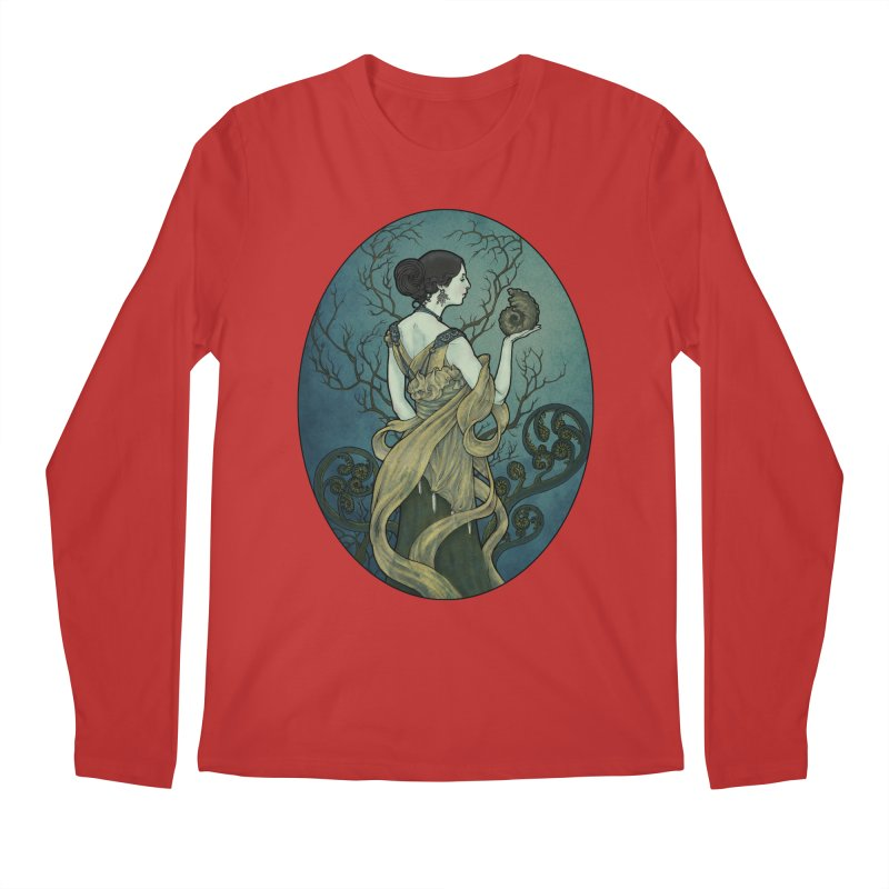 Ammonite Men's Regular Longsleeve T-Shirt by Ambrose H.H.'s Artist Shop