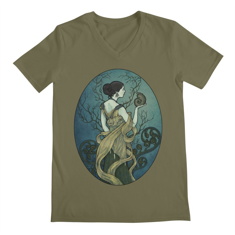 Ammonite Men's V-Neck by Ambrose H.H.'s Artist Shop