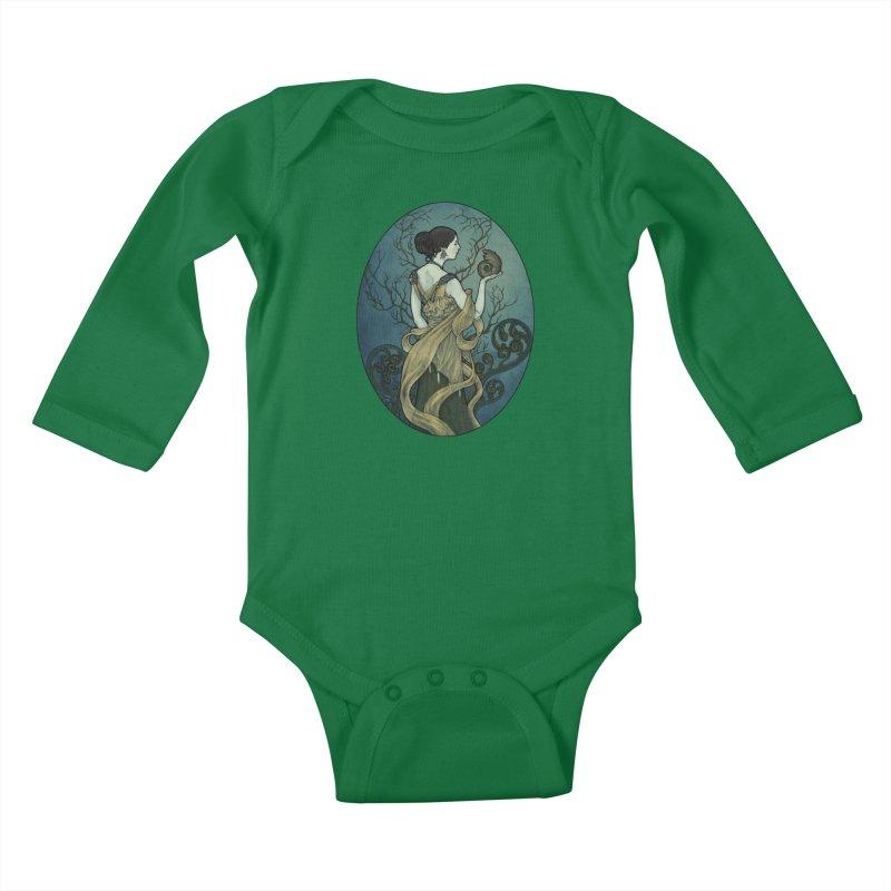 Ammonite Kids Baby Longsleeve Bodysuit by Ambrose H.H.'s Artist Shop