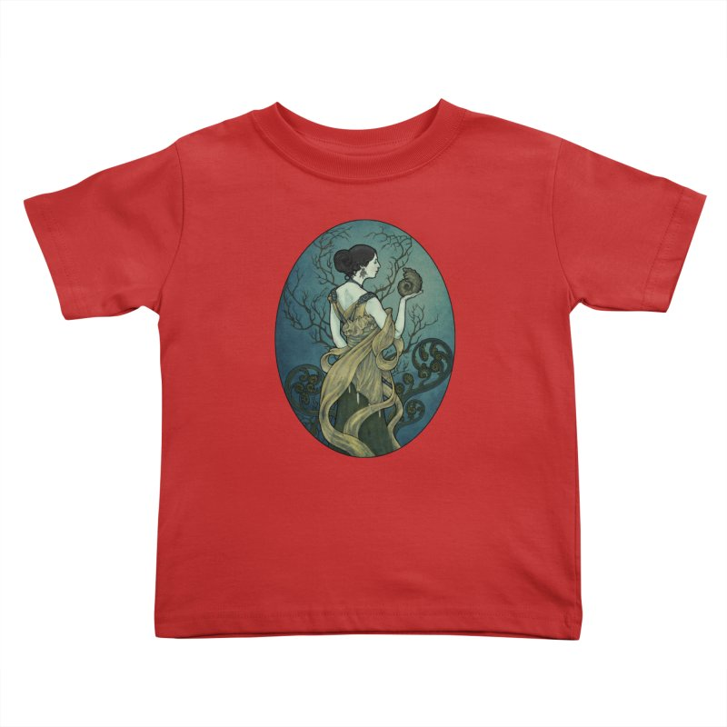 Ammonite Kids Toddler T-Shirt by Ambrose H.H.'s Artist Shop