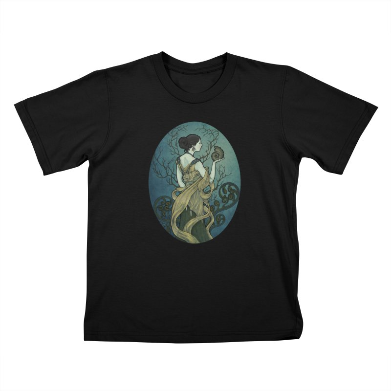 Ammonite Kids T-Shirt by Ambrose H.H.'s Artist Shop
