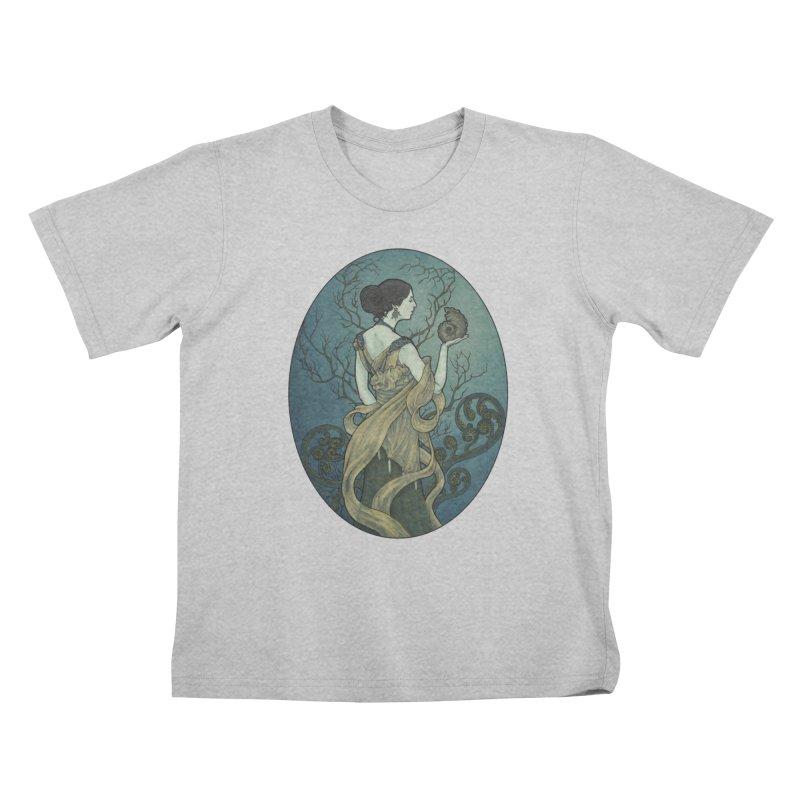 Ammonite Kids T-Shirt by Ambrose H.H.'s Artist Shop