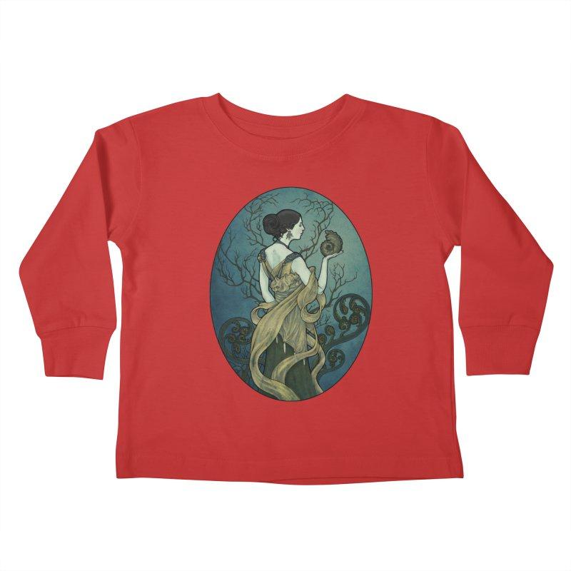 Ammonite Kids Toddler Longsleeve T-Shirt by Ambrose H.H.'s Artist Shop