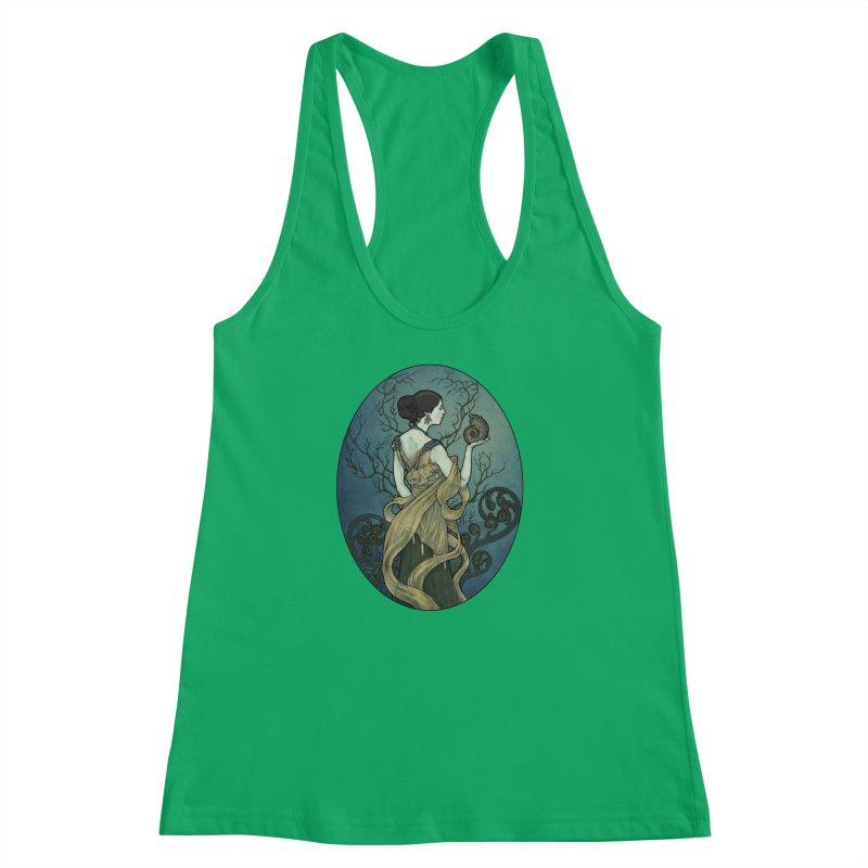 Ammonite Women's Racerback Tank by Ambrose H.H.'s Artist Shop